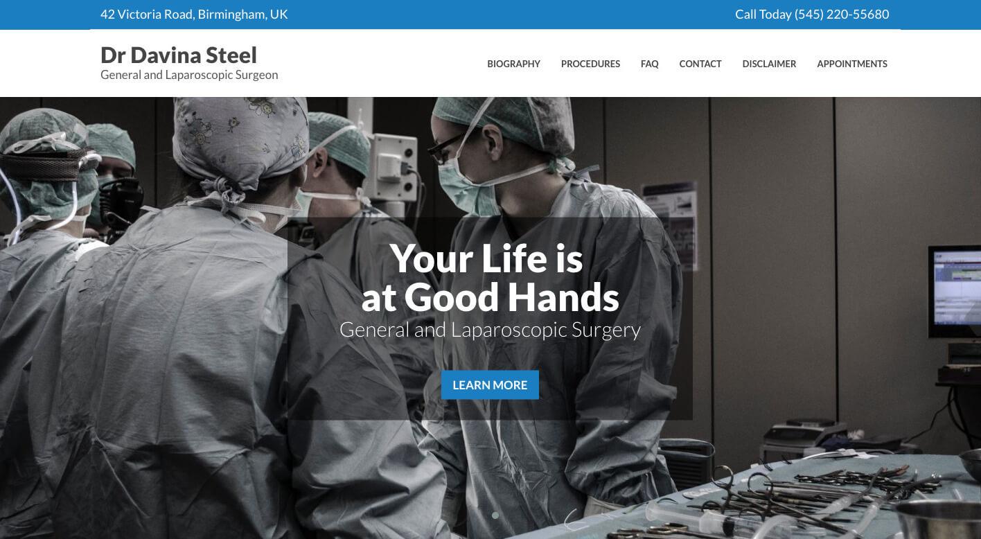 Header image for WordPress Landing Page