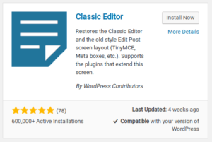 Classic Editor plugin - Plethora Themes