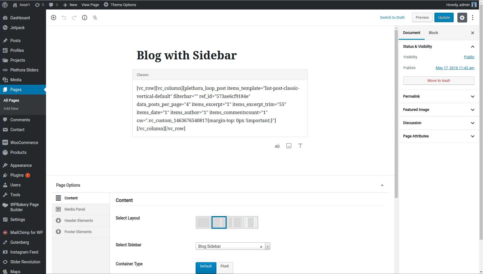 Gutenberg over Page Builder - Plethora Themes